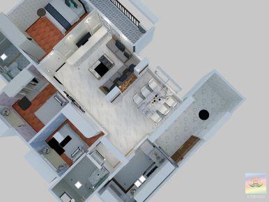惠州锦绣学府 现代风格三房家庭装修设计