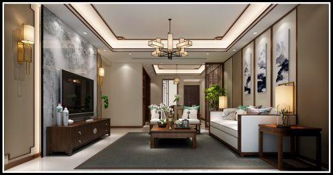 泉州中式风格三房装修设计效果图 郭先生雅居