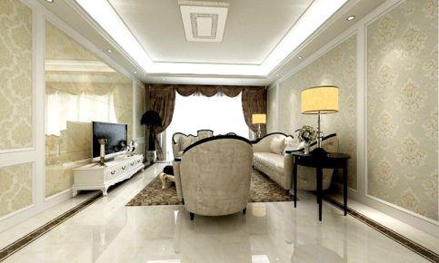 南京欧式风格三房装修设计 日光佳园小区欧式风格家庭装修