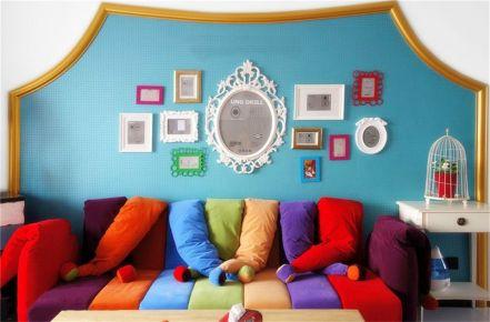 长沙宅速美装饰 117平彩色混搭风家装效果图欣赏