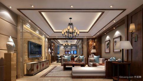 佛山顺德双子星小区装修  现代风格四居室装修效果图