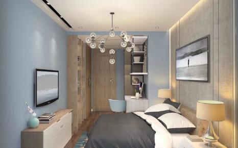 重庆现代风格家庭装饰实景图 现代风格两房装修效果图