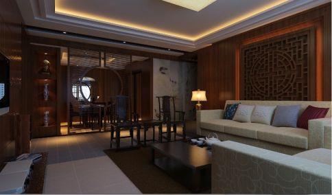 海口中式风格家庭装修设计 中式风格三房装修效果图