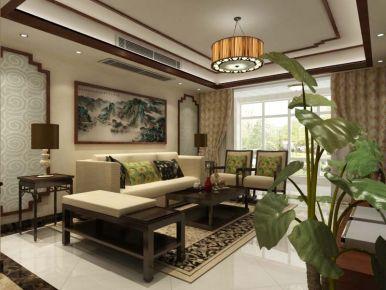 扬州江南一品 中式风格三房家庭装修效果图