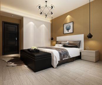 中山优格国际现代简约风格三房装修效果图欣赏