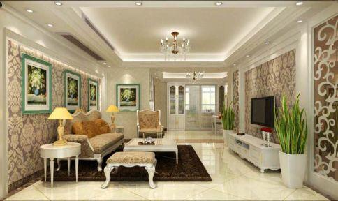 扬州明发江湾城 欧式风格三居室装修效果图欣赏