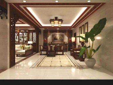 扬州中式风格三房装修设计效果图 红桥自建房