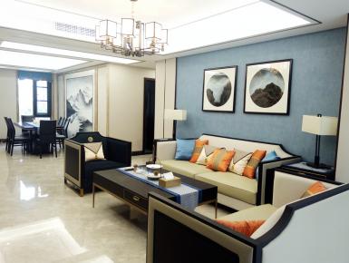 温州现代新中式风格家庭装修  新中式风格三房装修效果图