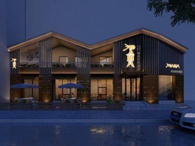 长沙湘菜餐厅装修设计 田园风格餐厅装修效果图