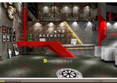 长沙热炼星城健身俱乐部装修 健身俱乐部装修效果图