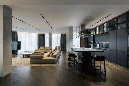 御海东郡畔岛两房一厅一卫现代简约风格效果图