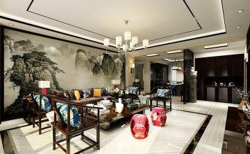 南宁新中式风格四房装修设计 中式风格家庭装修效果图