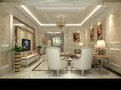 扬州鑫桥康郡 欧式风格家庭装修设计