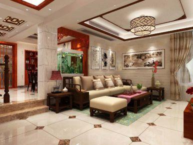 扬州桃源人家 中式风格复式楼装修设计欣赏
