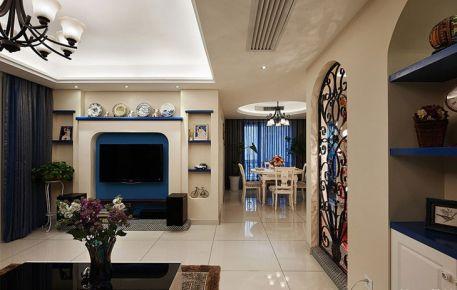 昆明地中海风格三房装修设计 华都花园三房装修效果图