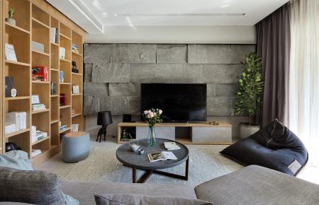昆明现代简约风格装修设计 云安阳光城四居室装修效果图欣赏