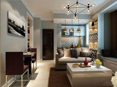 杭州二居室现代风格装修设计 现代风格家庭装修效果图
