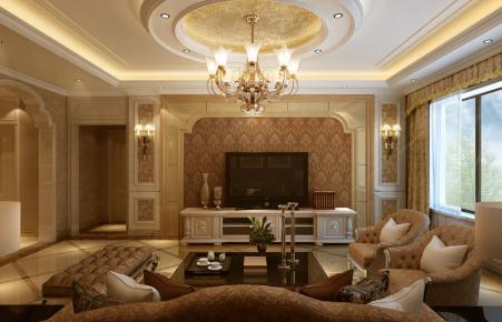 国嘉佳园美式风格装修效果图 美式风格三房装修设计