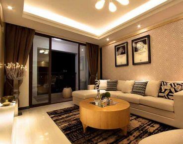 洛阳老城区现代风格三居室装修效果图