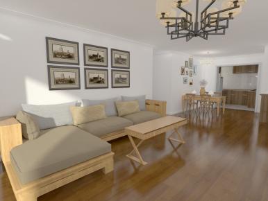 青岛现代设计风格装修 现代风格两房装修效果图