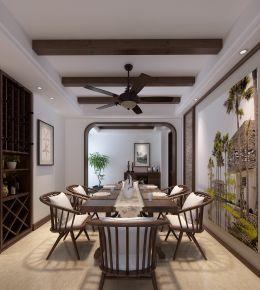 太原首开国风琅樾 东南亚风格三房装修设计