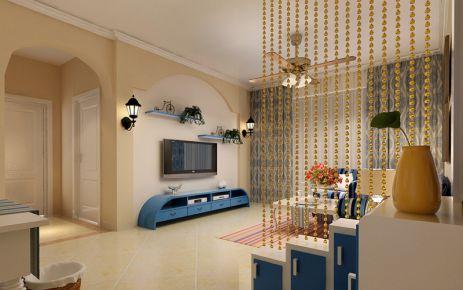 西安地中海风格两房装修 天琴湾地中海风格家装欣赏