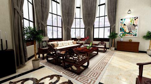 中式风格别墅装修设计 铭峰小区中式风格装修