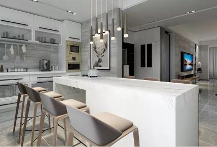 西安城市雅苑现代简约风格两居室装修效果图