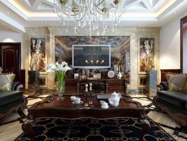呼和浩特中海御龙湾280别墅欧式风格装修效果图