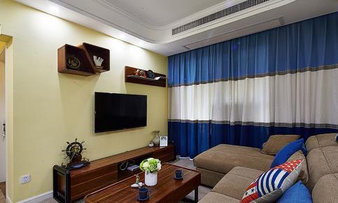 武汉90平现代简约两居室装修效果图欣赏