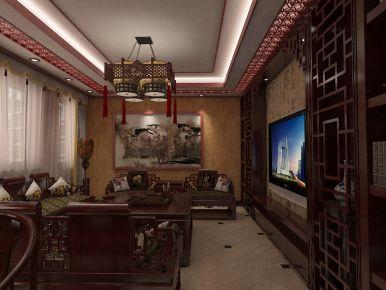 北京固安听涛苑中式装修效果图