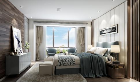 长沙天心区哈弗小镇欧式风格三居室装修效果图