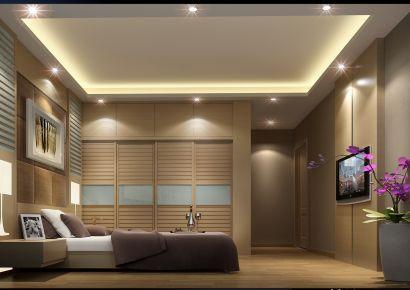 中山朗晴假日现代风格三居室装修效果图