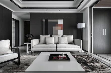 佛山保利中央公馆混搭四居室装修效果图欣赏
