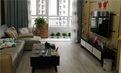 [原创工艺]武汉114㎡新城璟悦城简约三居室完工效果图
