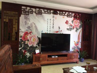 中山万象花园中式风格三居室装修效果图