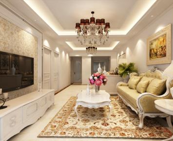 长沙中隆国际御玺简约三居室设计效果图