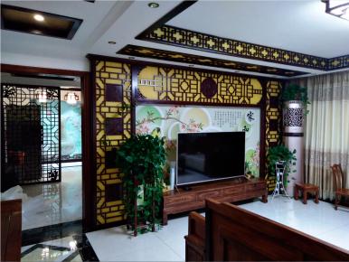 西安炕底寨小区古典中式风格装修效果图