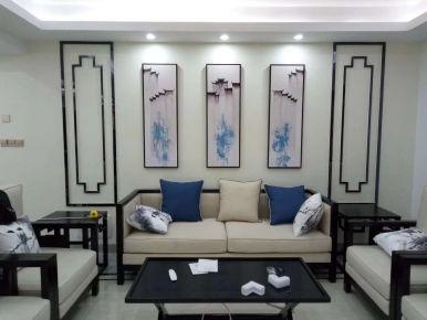 泉州晋江市锦堂雅苑新中式三居室装修效果图