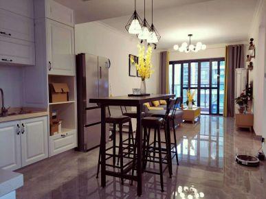 珠海现代风格三房装修设计  国际花城工地
