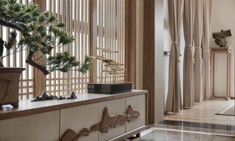 无锡太湖花园中式四居室装修效果图