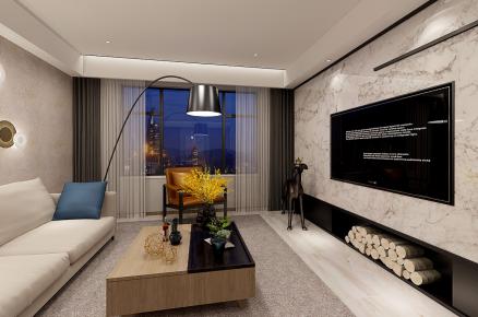宁波中式风格三房装修设计效果图 雅戈尔明州