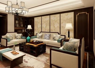 宁波中式风格家庭装修设计 盛世东方小区三房装修