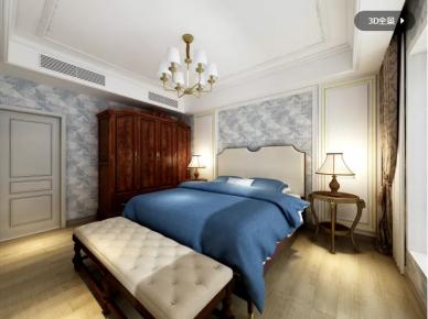 惠州美丽州美式风格三居室装修效果图