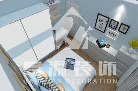 漳州阳光美的现代三居室装修效果图