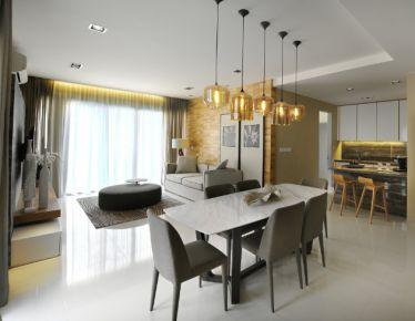 惠州凯旋城小区 现代风格家庭装修设计