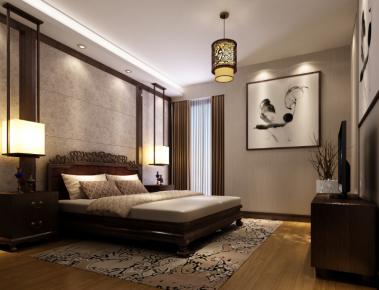 珠海三好名苑新中式三居室装修设计效果图