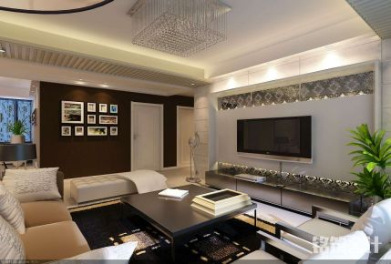 西安枫林意树现代三居室装修效果图