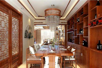 广州中式风格四房装修设计  艺雕装饰