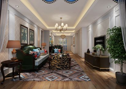 烟台美式风格三房装修设计欣赏 静谧的时光